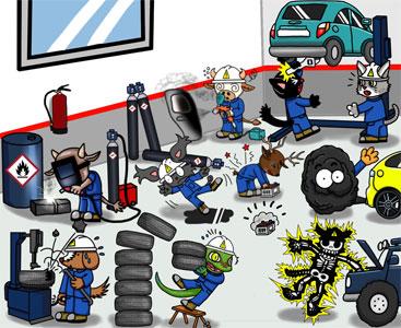 seguridad para un correcto uso y mantenimiento en los talleres mecanicos.