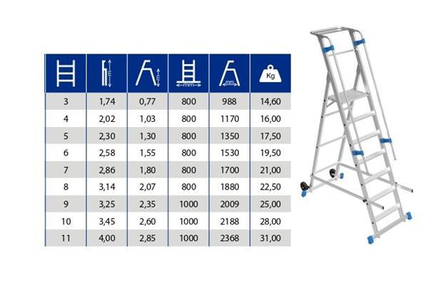 Escalera  Plegable Aluminio