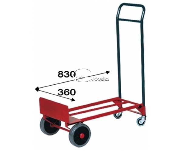 Carretilla Plataforma Rojo