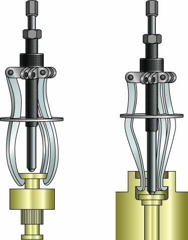 Tornillo extractor  con diferencial  + 6 garras