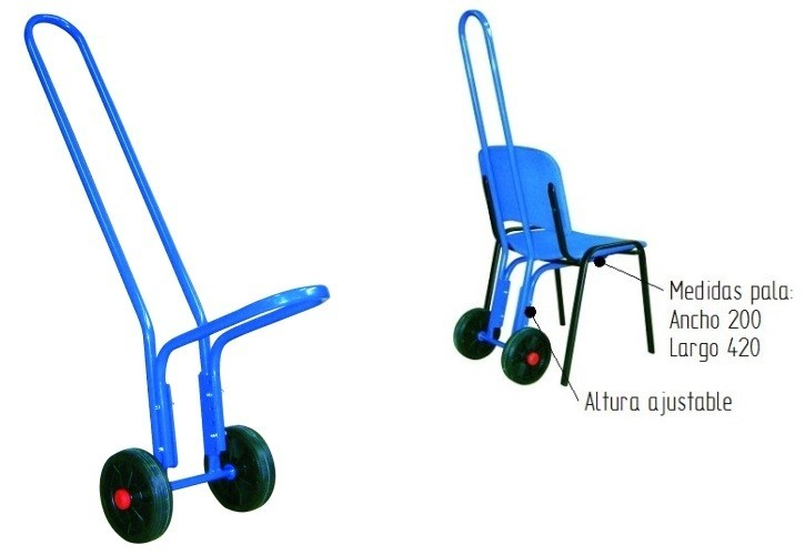 Carro porta sillas