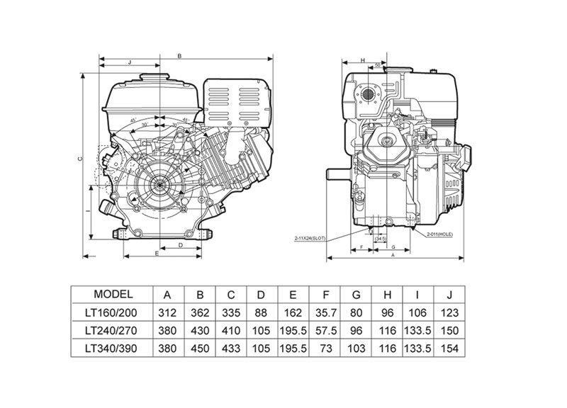 Motor Gasolina  5,5 cv
