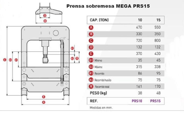Prensa Mega de 15 toneladas