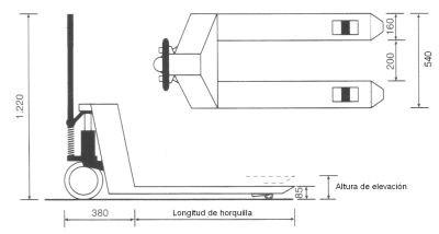 Transpaleta  Manual 4.000 kg