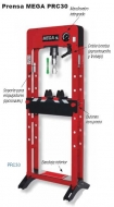 Prensa hidraulica Mega industrial de 30 t.