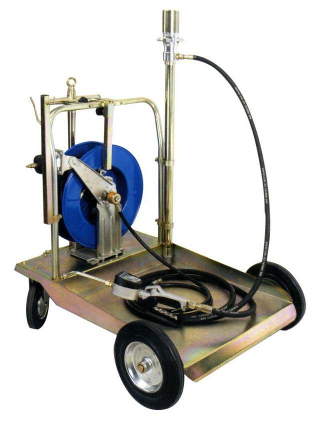 Carro con bomba aceite neumática