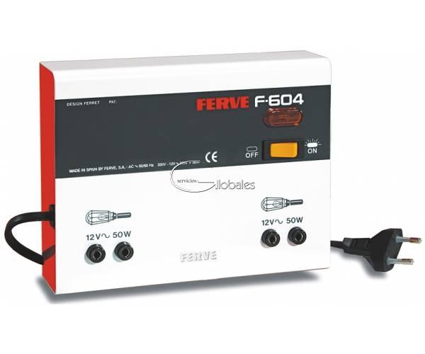 Transformador de tensión para luz portátil