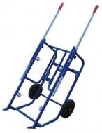 Carro para el volteo de barriles de vertical a horizontal
