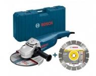 Amoladora gws 2200 w - 230 mm Bosch con disco y maletín