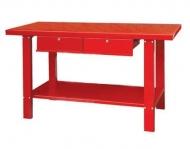 Mesa de trabajo de 1,5 metros (rojo)