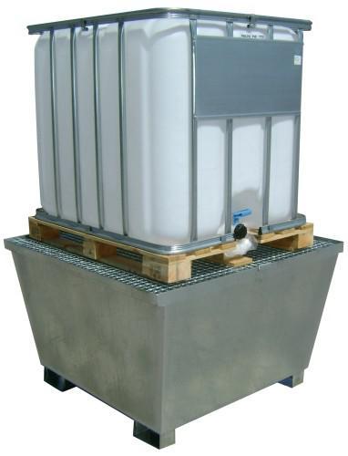 Cubetos retención  depósito de 1000 litros.