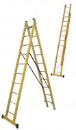 Escalera de 2 tramos fibra de vidrio