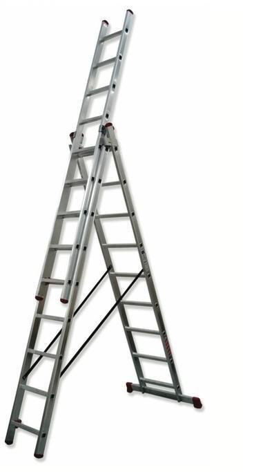 Escalera  3 tramos Aluminio