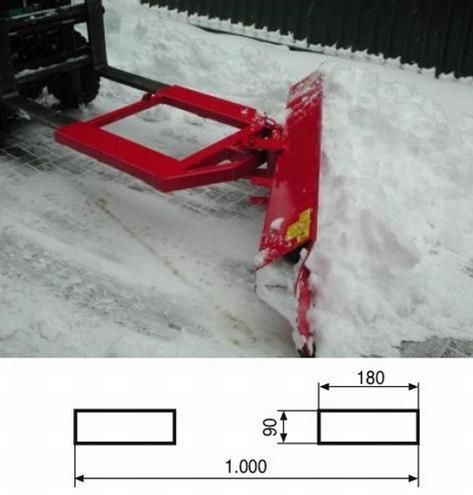 Quita Nieve para Carretilla