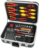 Maletin de herramientas con kit para electricista 68 piezas