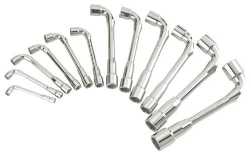 Juego de 12 llaves pipa abierta SD 6X6P de 7 a  24mm