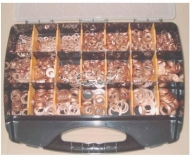 Maletin de arandelas de cobre