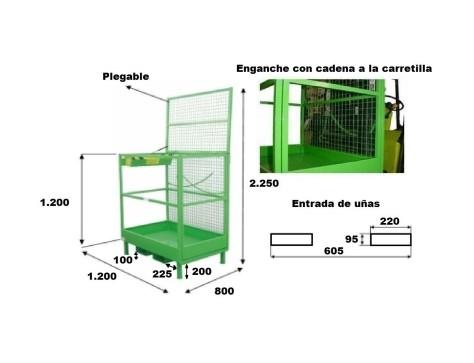 Cesta Carretilla Elevadora