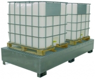 Cubeto retención 2 depósitos de 1000 litros
